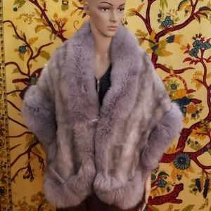 Faux fur stole or wrap OSFM (see measurements)